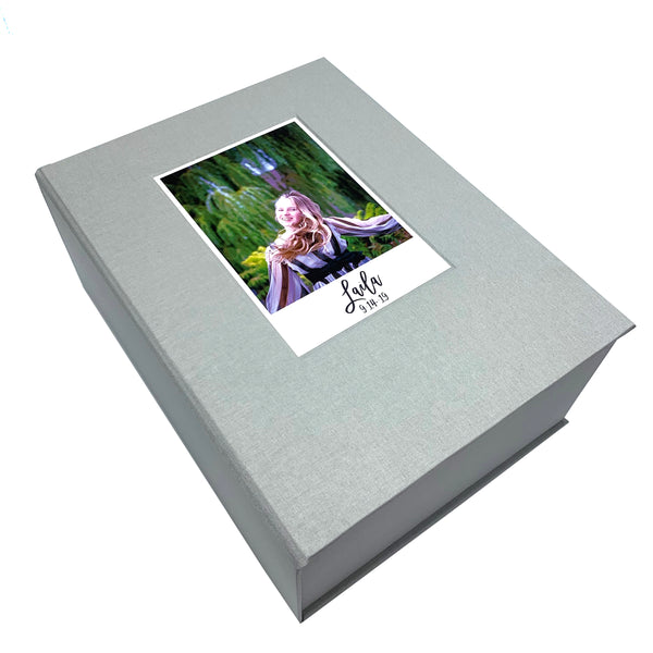 keepsake box with photo inlay(11.5x9x2.5)
