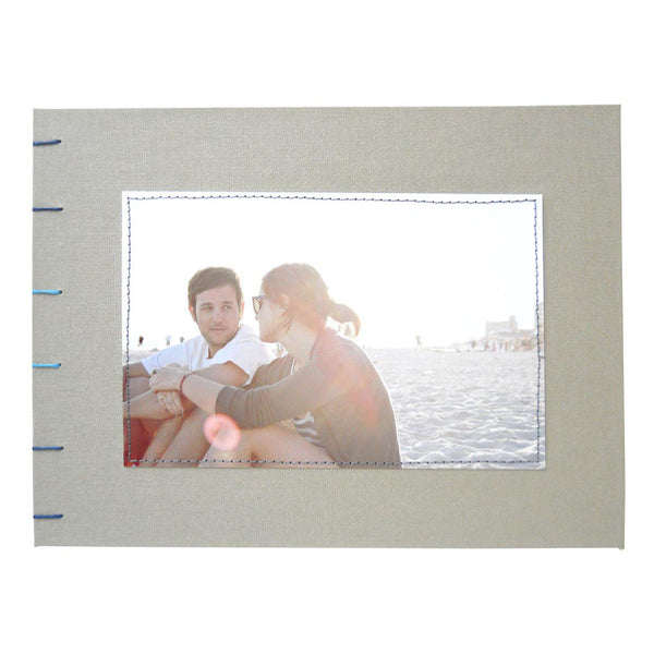 custom guestbook with photo of couple on cover