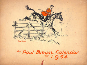"""The Paul Brown Brooks Brothers Calendar For 1954"""