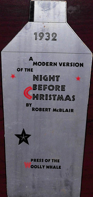 A Modern Version of The Night Before Christmas Pub 1932 by the Press of The Woolly Whale