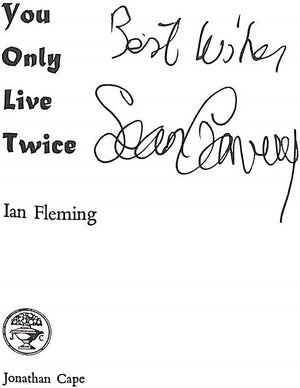 Sean Connery (Signed x 2!) Ian Fleming 14 Volume Set Morocco Leather-Bound by Asprey Bond Street in Presentation Box
