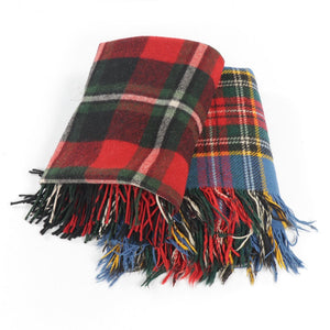 'Vintage Macbeth and Abercrombie & Fitch Wool Throw Blankets'