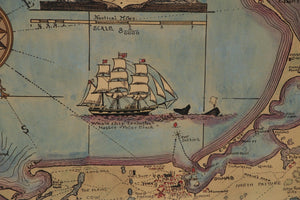 Watercolor Map of Nantucket, Designed 1921 by Austin Strong (American, 1881-1952)