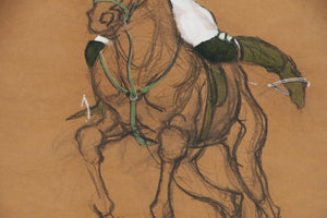 """Polo Player"" Gouache by Frank Ashley"