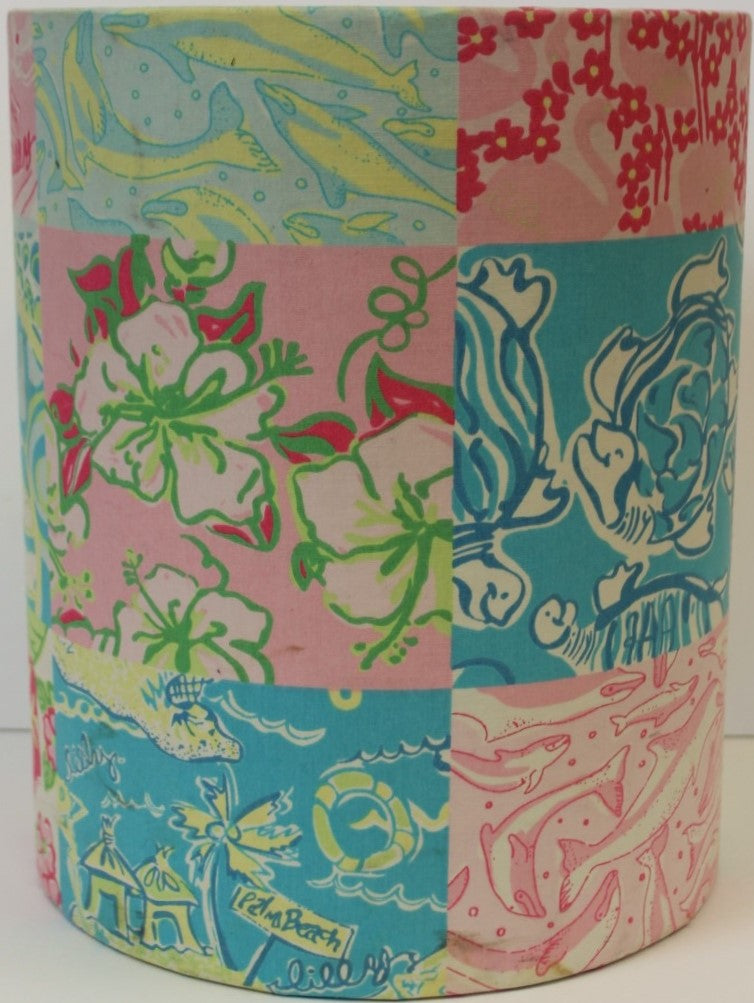 Lilly Pulitzer Patch Panel Wastebasket