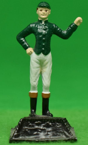 "The ""21"" Club New York Hunter Green Jockey Place Card Holder"