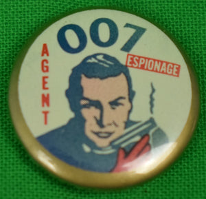 Sean Connery Agent 007 James Bond Espionage Pin (SOLD!)