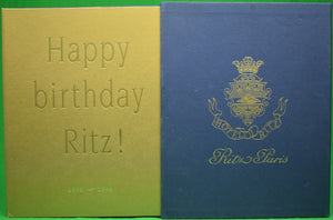 """Ritz Paris: 100 Years 1898-1998"""