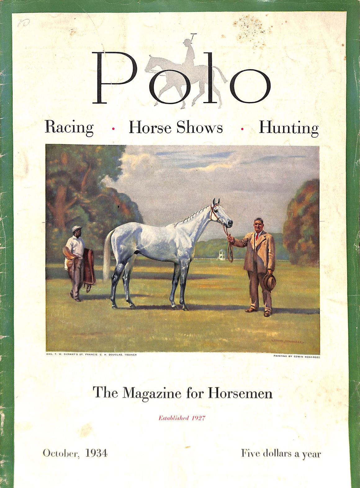 Polo: The Magazine For Horsemen October 1934