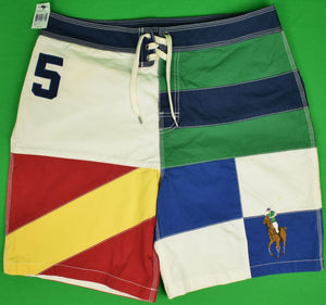 "Polo by Ralph Lauren Signal Flag Color Block Swim Trunks Sz: 34""W (New w/ Tag!)"