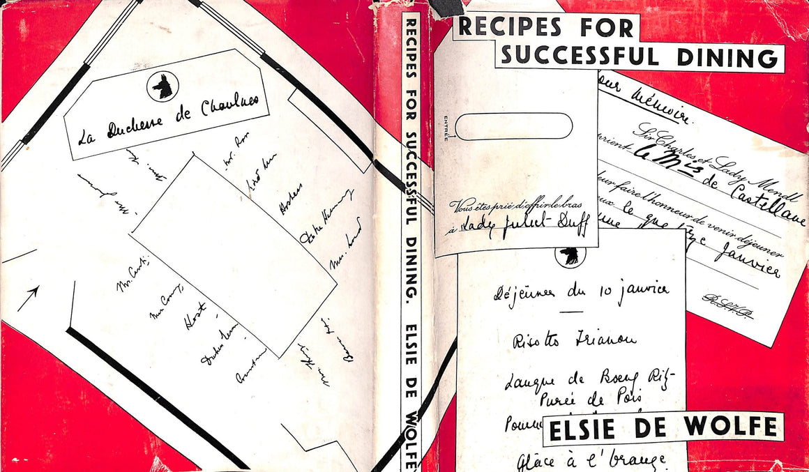 """Recipes For Successful Dining"" de Wolfe, Elsie"