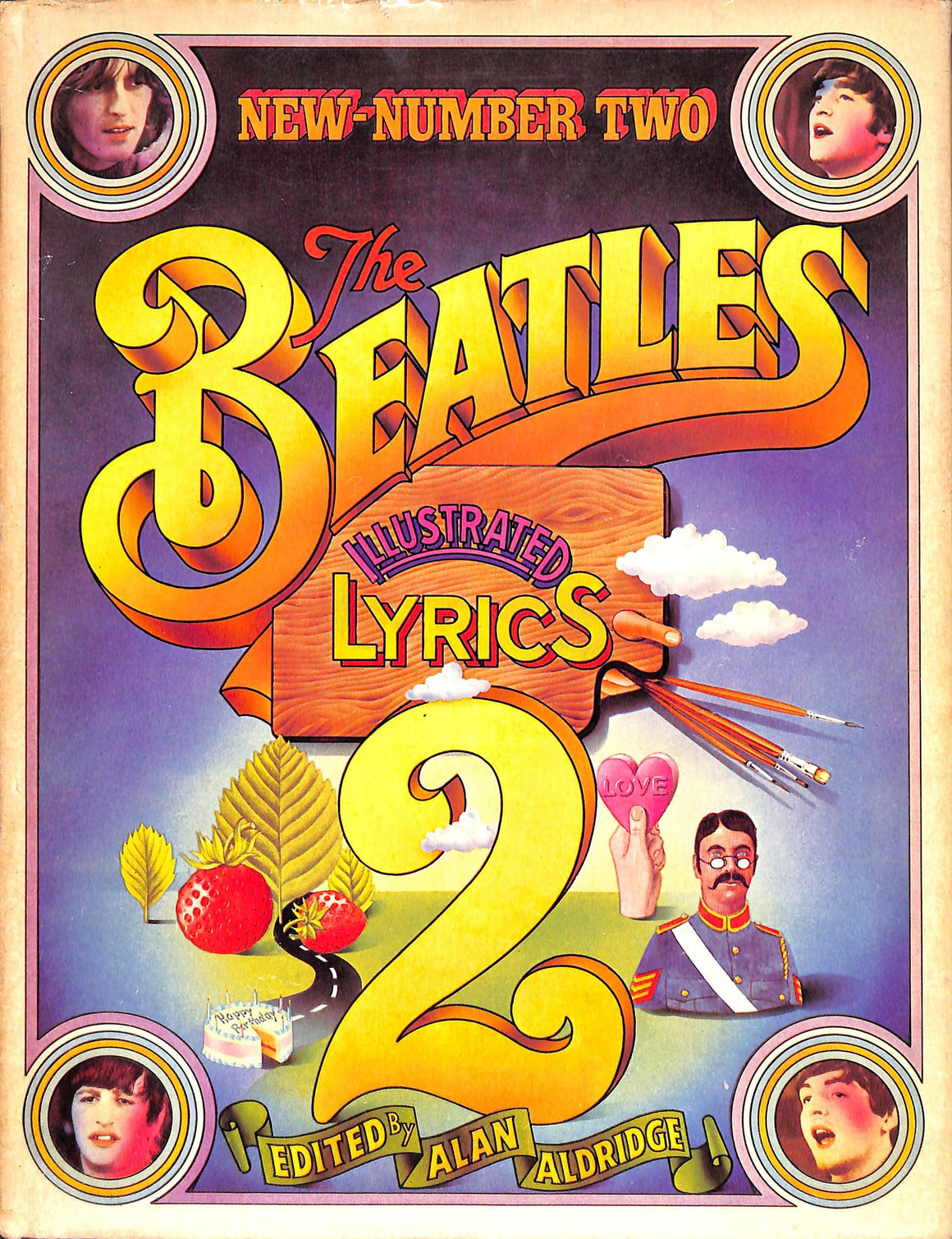 """The Beatles Illustrated Lyrics 2"" 1971 ALDRIDGE, Alan [Edited by]"