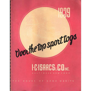 """Over the Top Sport Togs 1939"" Equestrian Apparel Catalog"