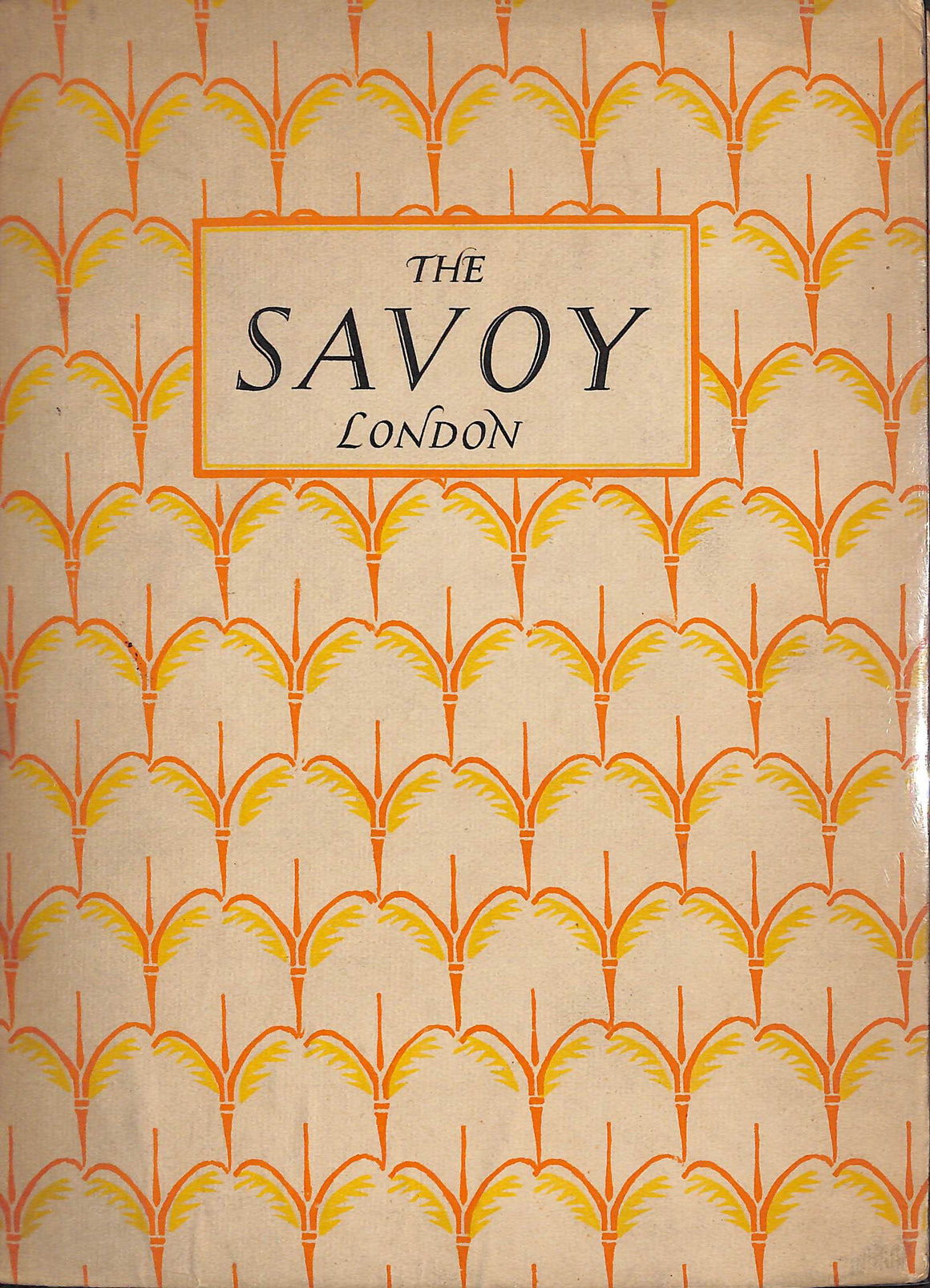 """The Savoy London"" 1923"