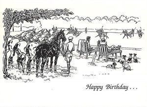 """Paul Brown Polo Match Birthday Card w/ Envelope"""