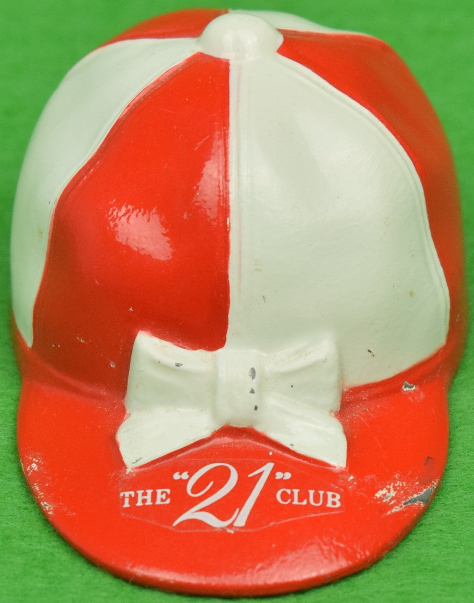 """21"" Club Red/ White Jockey Cap Bottle Opener (SOLD)"