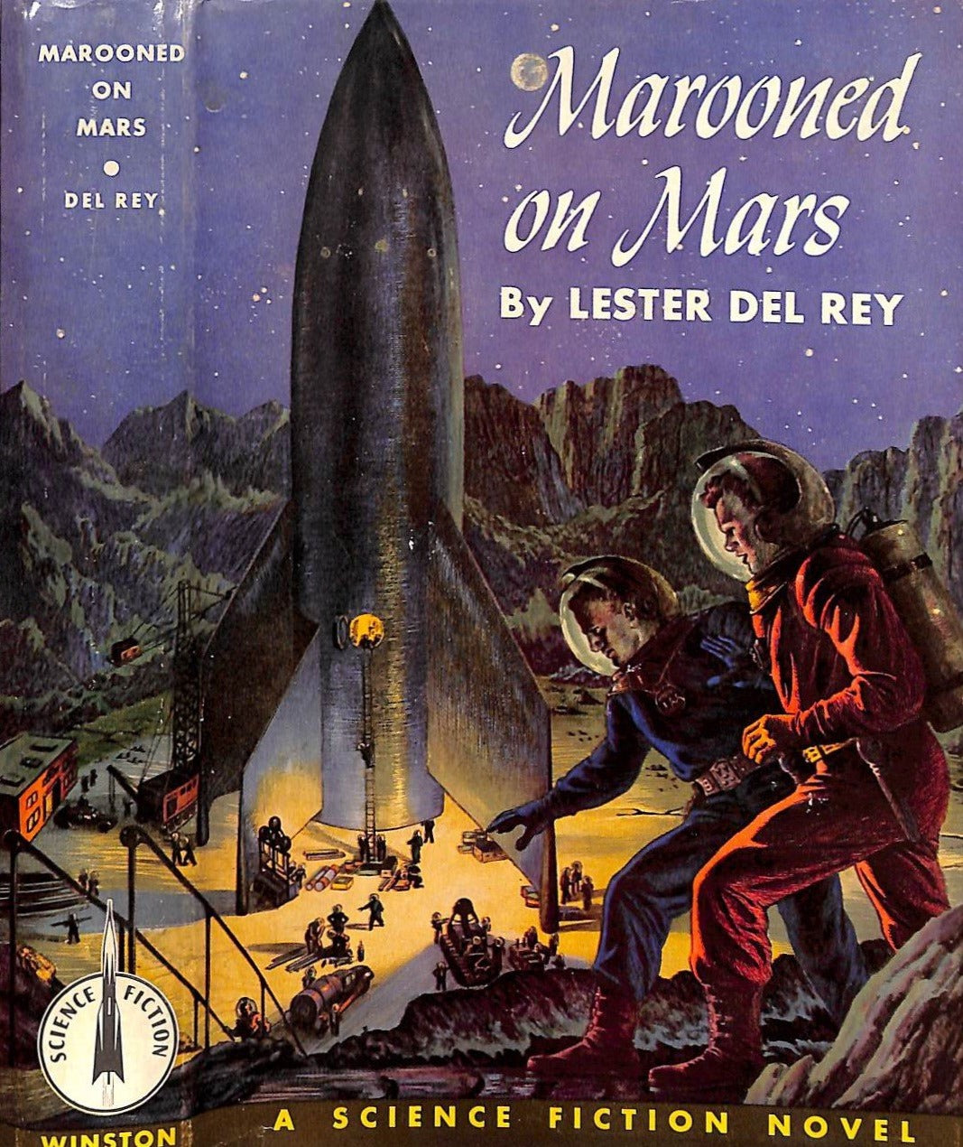 """Marooned on Mars"" 1956 del Rey, Lester"