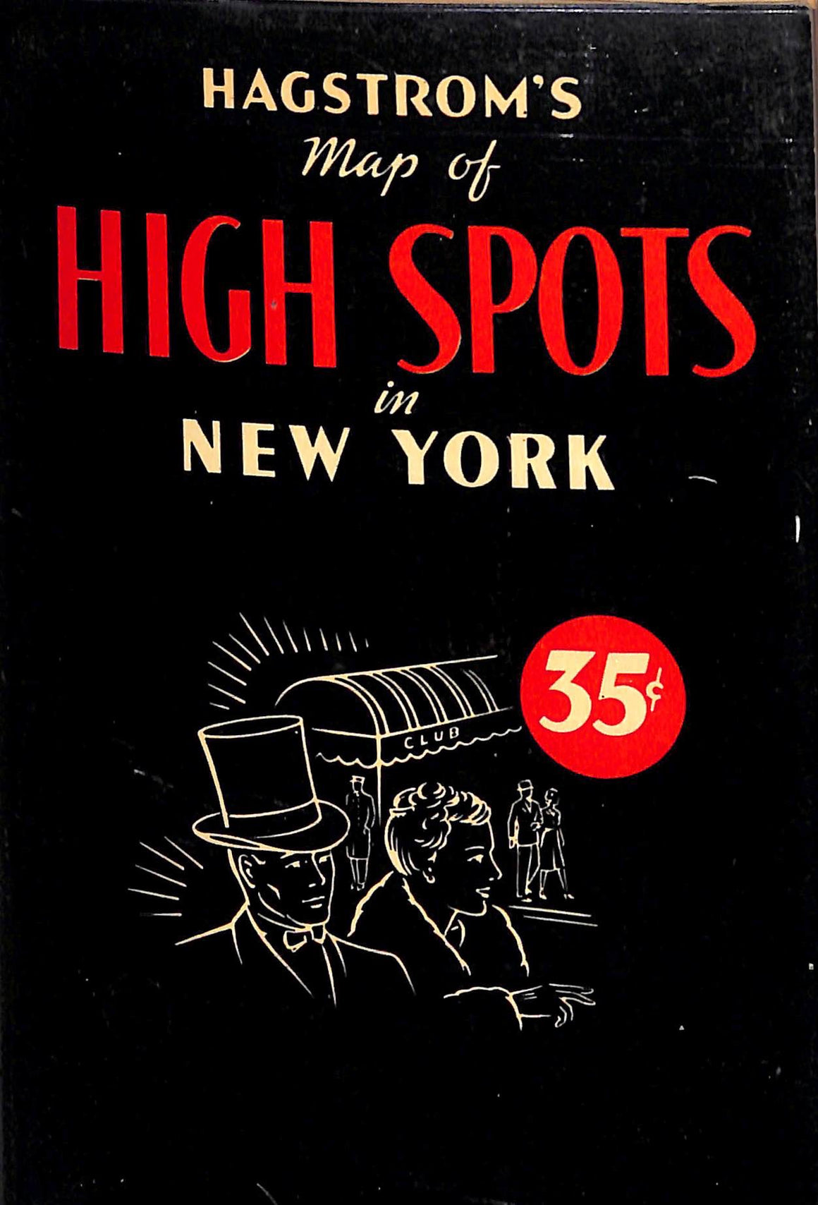 """Hagstrom's c1960 Map of High Spots in New York"""
