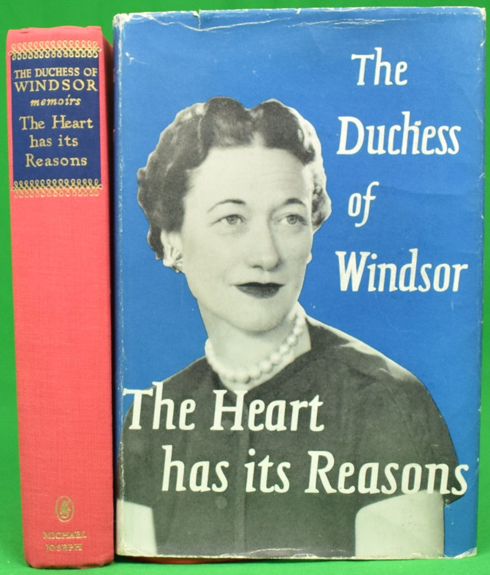 """The Heart Has Its Reasons' The Memoirs of The Duchess of Windsor"" 1956 (Signed!)"