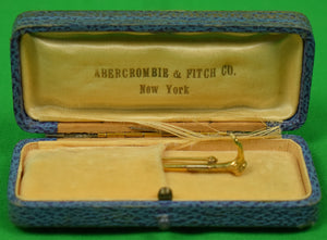 Abercrombie & Fitch Gold Riding Crop Stick Pin in A&F Box
