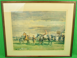 Sir Alfred Munnings After The Race c1951 Colour Lithograph Printed by Frost & Reed London