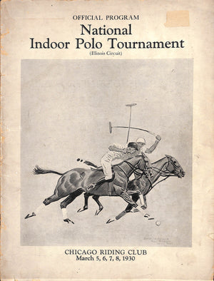 """National Indoor Polo Tournament"" 1930 w/ Paul Brown Cover Artwork"