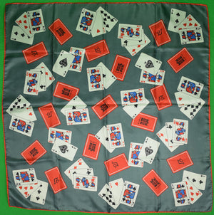 """21"" Club Playing Cards Silk XXIX Scarf"