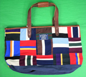 Rugby Ralph Lauren Patchwork Rowing Scarf Tote Bag (New w/ Tag!)