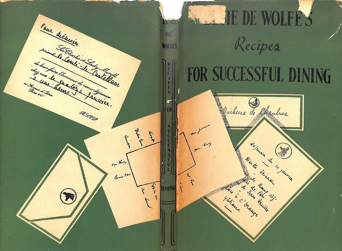 """Elsie de Wolfe's Recipes For Successful Dining"" 1947 de Wolfe, Elsie"