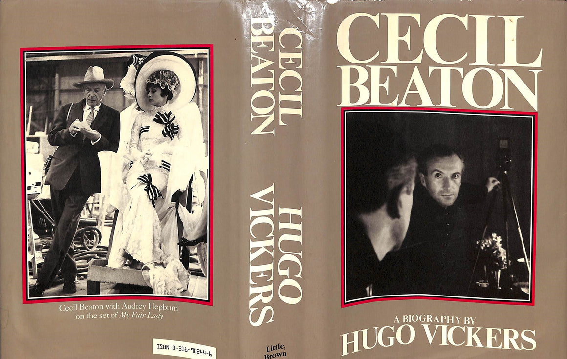 """Cecil Beaton: A Biography"" 1985 by Vickers, Hugo w/ Original Cecil Beaton 3 pg Letter"