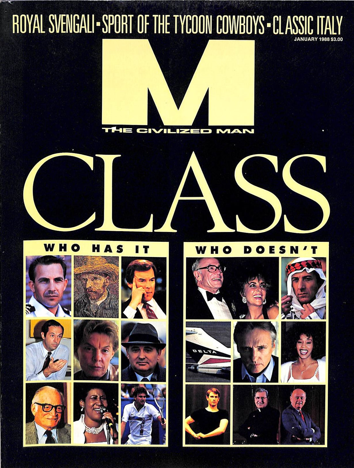"""M The Civilized Man January 1988 Class Who Has It/ Who Doesn't"""