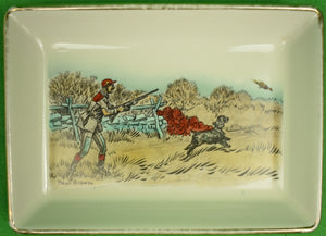 Paul Brown for Brooks Brothers Pheasant-Hunter Porcelain Tray