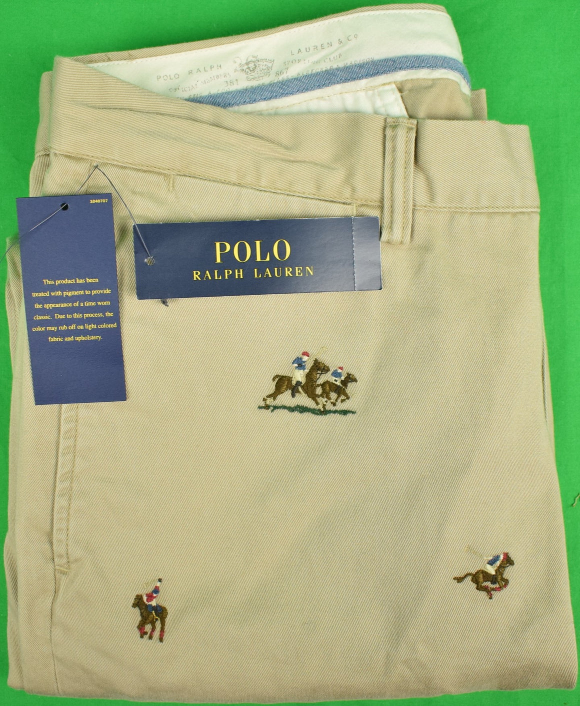 Polo Ralph Lauren Bedford Chinos w/ Embroidered Polo Players (New w/ Tags!) 32/ 32