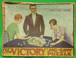 "The ""Victory"" Jig-Saw c1930 Puzzle Box"
