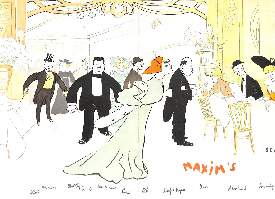 Maxim's Paris Menu Cover by SEM