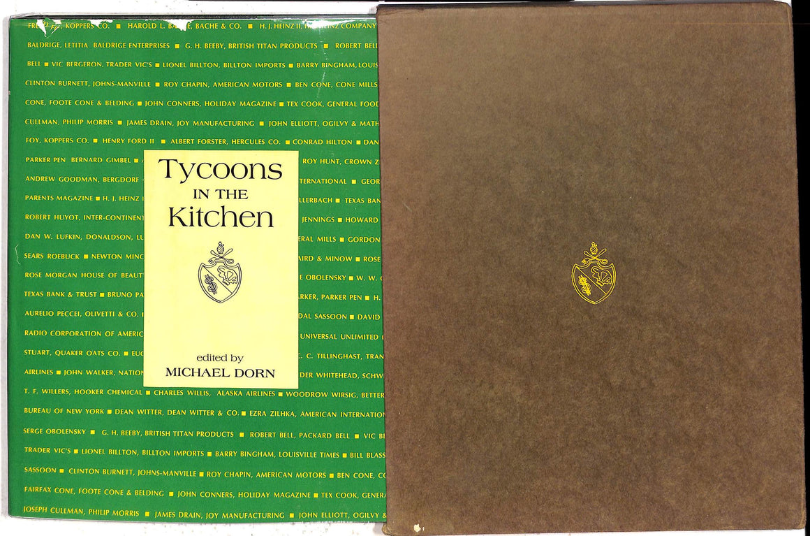 """Tycoons in the Kitchen: The Favorite Recipes of the Men Who Run Big Business"" 1968 DORN, Michael"
