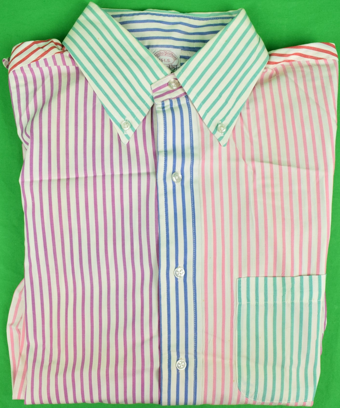 Brooks Brothers L/S B/D Multi-Stripe 'Fun' Shirt Sz: 16 L.S. (SOLD!)