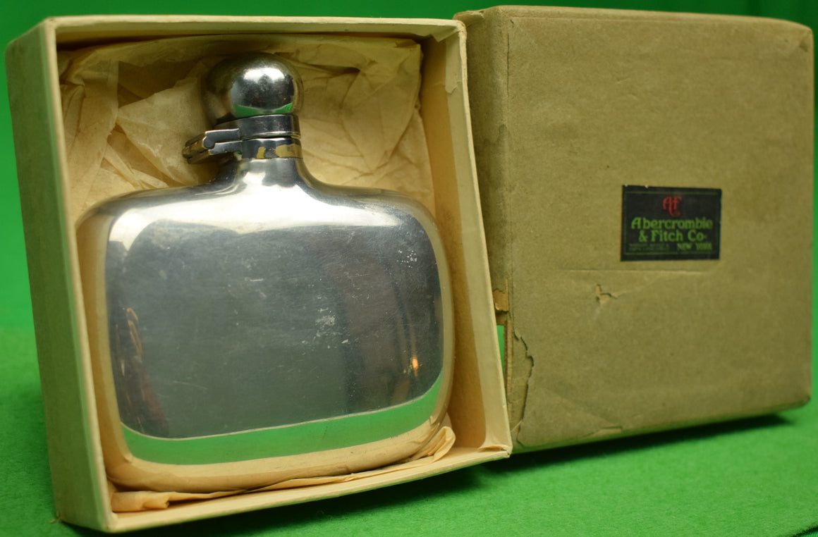 Abercrombie & Fitch c1920s Hip Flask Made in England (New/ Old Stock in A&F Box!)