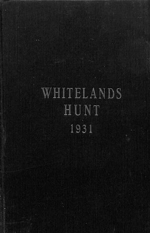 """Whitelands Hunt: By-Laws House Rules"""