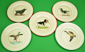 """Set of 5 Cyril Gorainoff c1930s Dinner Plates w/ Hunting Scenes"""