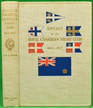 """Annals of The Royal Canadian Yacht Club 1852-1937"""