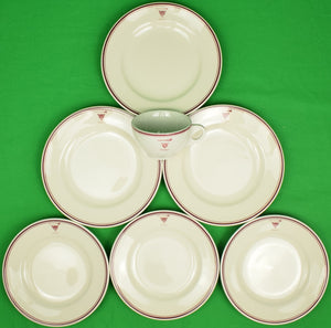 Set of 7 Myopia Hunt Club China Plates & Cup
