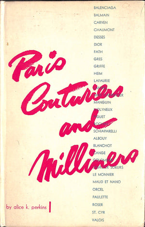 """Paris Couturiers and Milliners"" Perkins, Alice K."