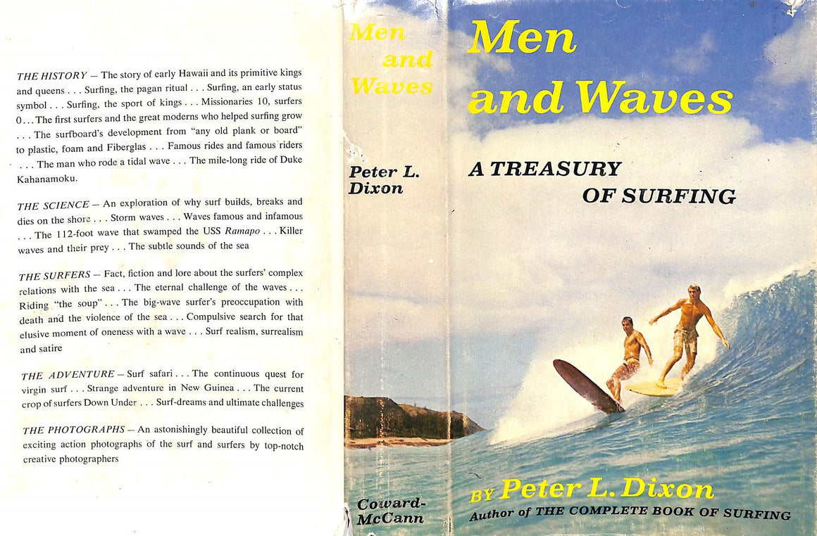 """Men and Waves: A Treasury of Surfing"" 1966 DIXON, Peter L."
