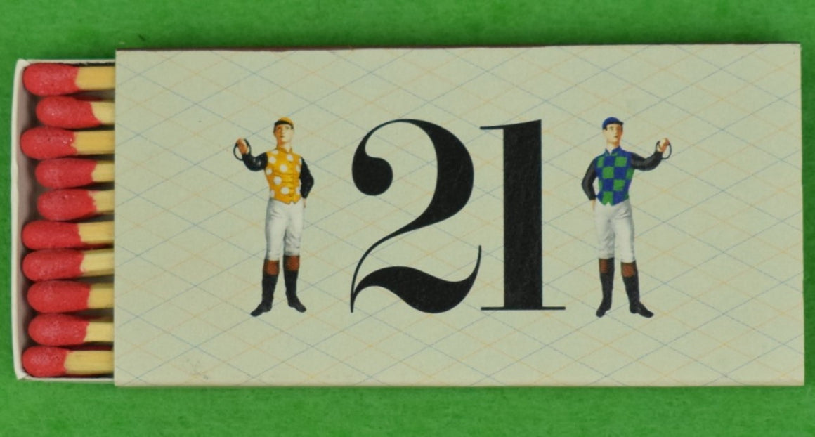 "The ""21"" Club Jockey New York Matchbook"