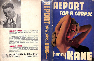 """Report for a Corpse"" KANE, Henry"