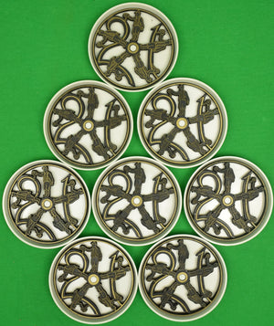 "Set of Eight ""21"" Club Stacking Coasters"
