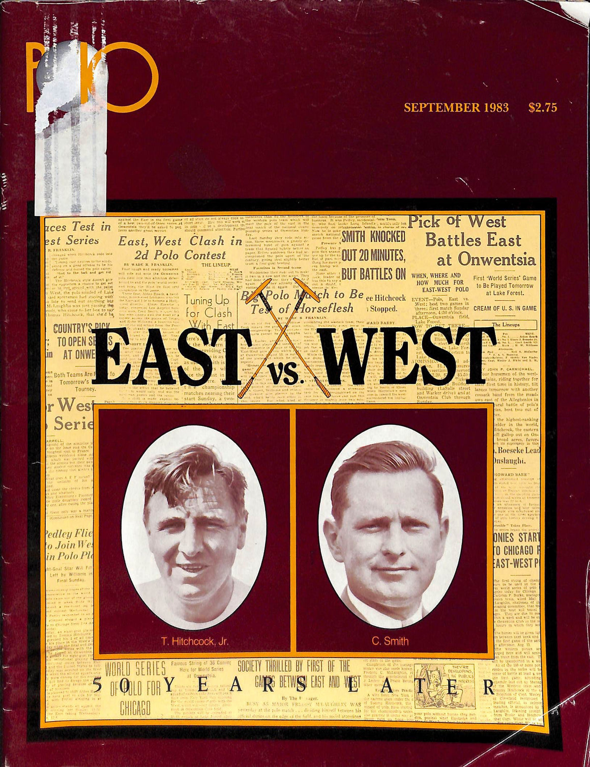 """Polo Magazine: East vs West 50 Years Later September 1983"""