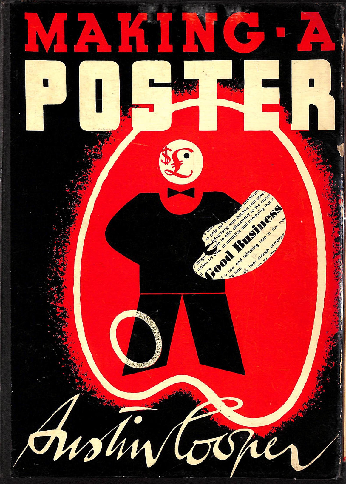'Making a Poster' 1938 by Austin Cooper
