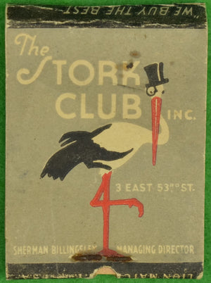 The Stork Club Matchbook